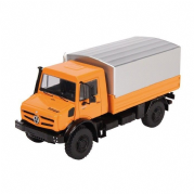 NZG MERCEDES BENZ UNIMOG U5000 with tarpaulin in Orange